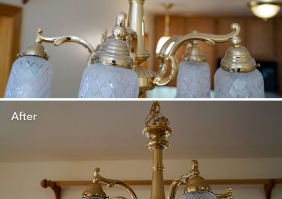 Renton Home Cleaning Chandelier