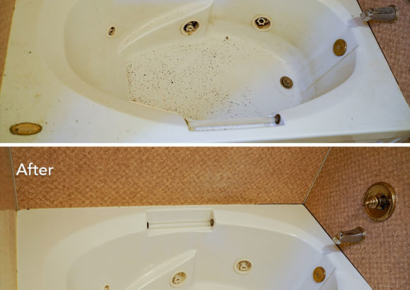 House Cleaning Tub Before After