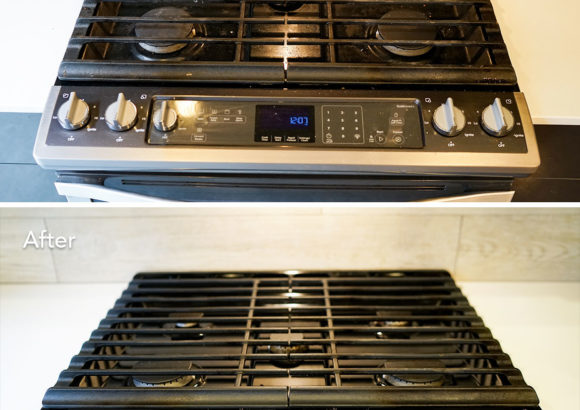 Home Cleaning Gas Stove