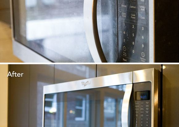 Seattle Home Cleaning Microwave