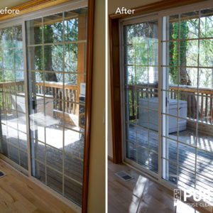 Clean patio doors