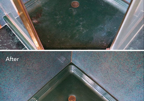 Seattle Home Cleaning Green Shower Floor
