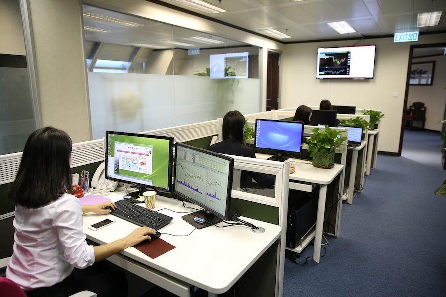 Clean office workspace