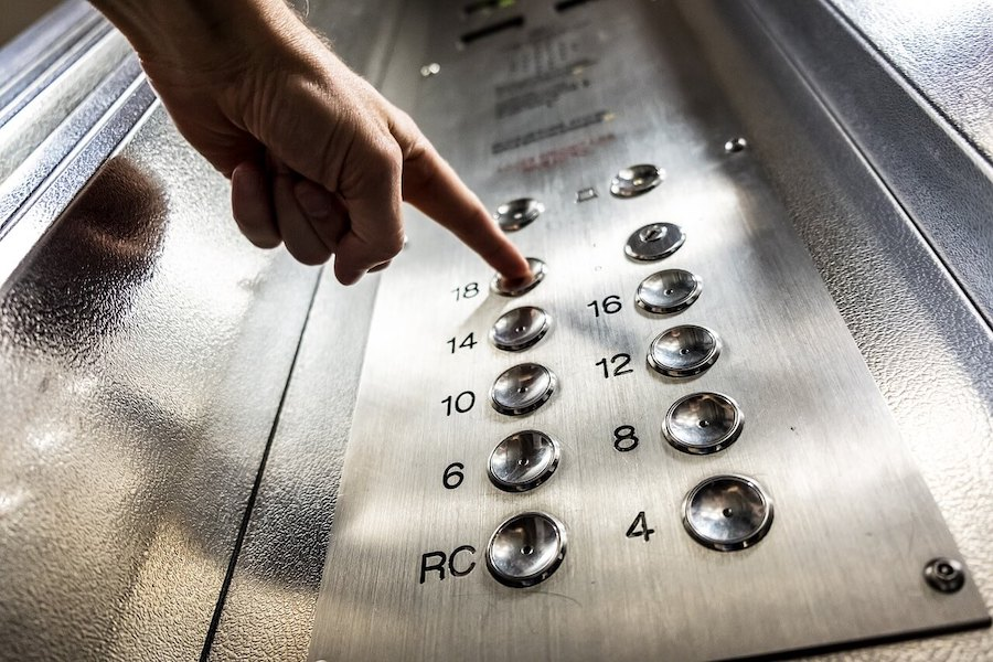 Clean elevator buttons