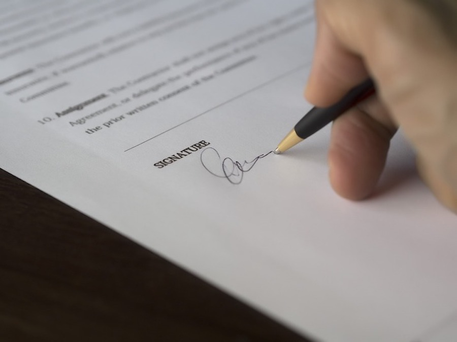 Sign the contract to sell your home
