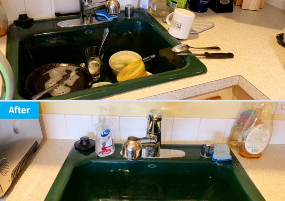 Renton Home Cleaning Green Sink